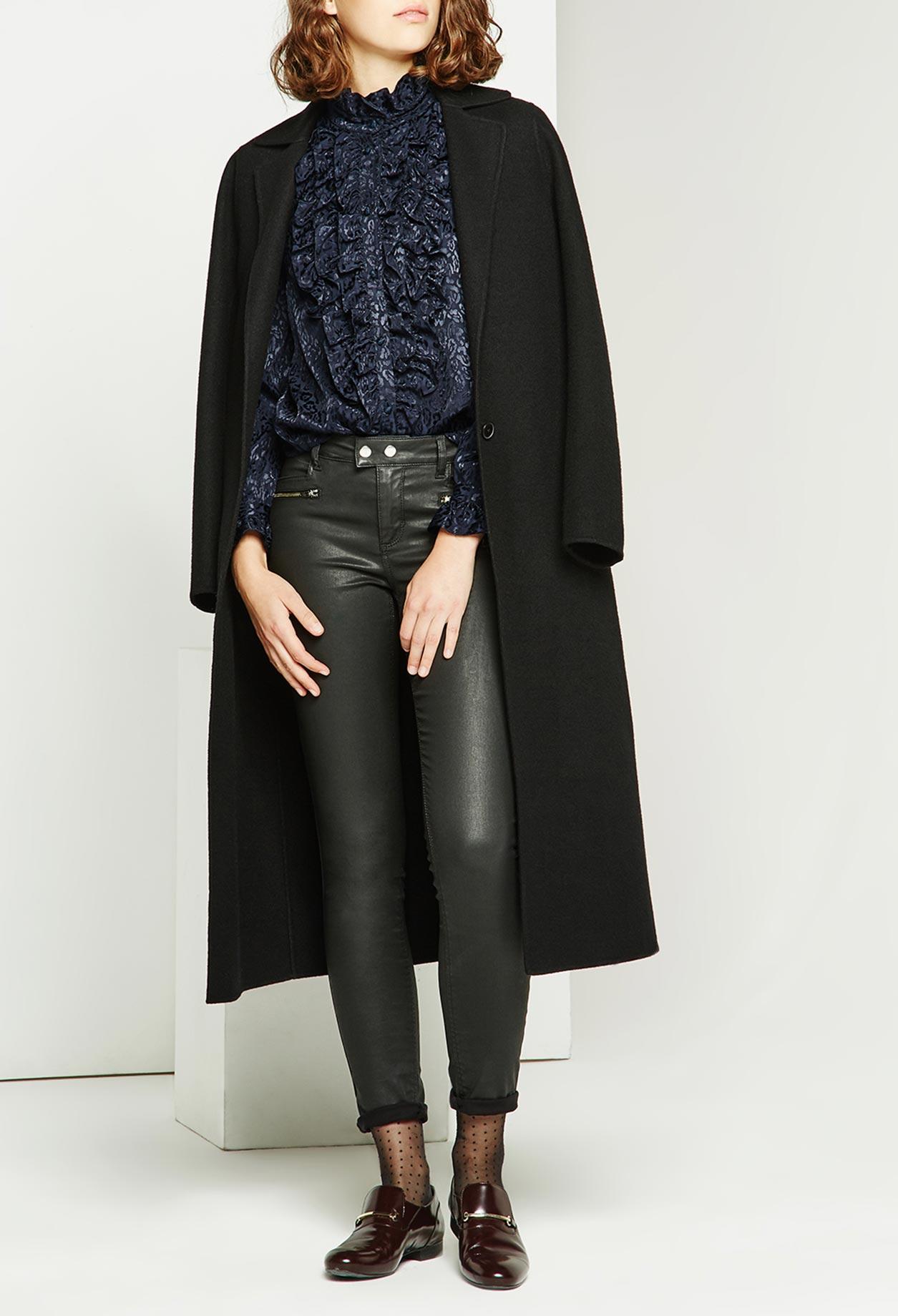 Manteau gracie noir claudie pierlot – Mode européenne 2018-2019 6e71d31af2ef