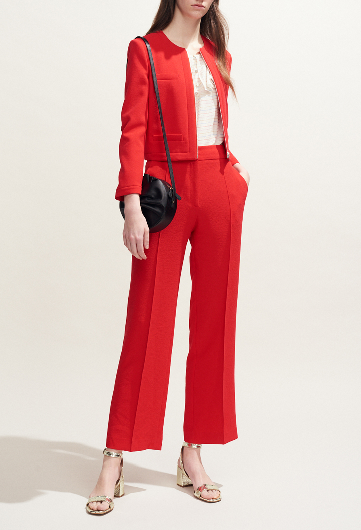 Loose wide-leg trousers